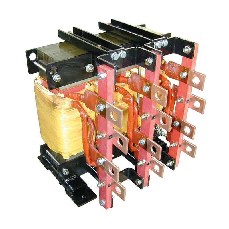 Reattore Per Sala Prove Con Prese Di Regolazione 0.35 0.4 0.45 mH 300 A 50 Hz AN 160 kg FDUEG