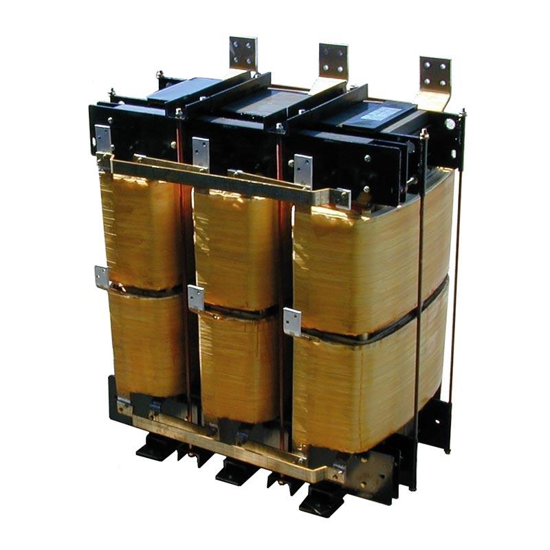 Trasformatore Trifase Con Reattanza Integrata Per Sistema Di Raddrizzamento A 24 Impulsi 600kVA 220-430V Dz+-15° 50Hz AN 1600kg FDUEG
