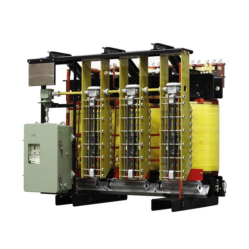 Trasformatore speciale Trifase Con Commutatore Sotto Carico E Sei Secondari 2700kVA 11000-da 204 a 725V Yd1 50Hz AF 5800kg FDUEG
