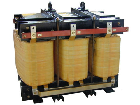 Dry type Transformer with integrated choke 125 kVA 400-300 V 50 Hz AN 680 kg FDUEG