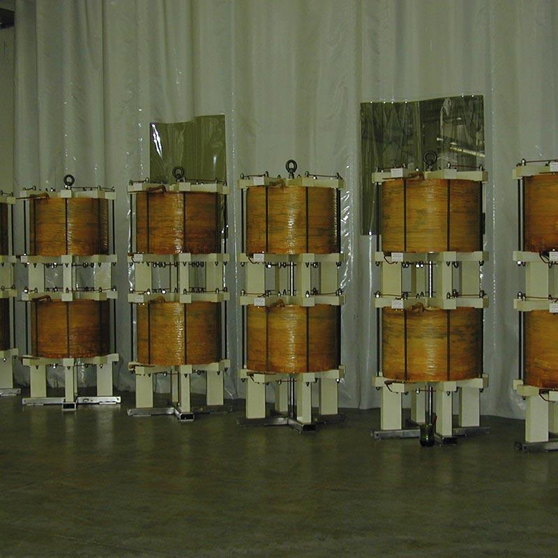 Reaktoren für Proberaum 1.5mH 15kA Für 0.5 Sec. Ogni 10 min. 50Hz 850kg FDUEG