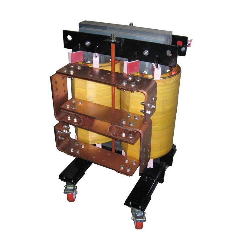 Transformateurs spéciaux 100kVA 400-50-25-12.5V 8000Amax 50Hz AN 550kg FDUEG